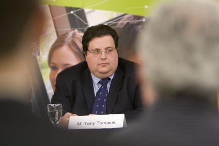 Tony Tomassi éatit lundi au centre de congrès... (Photo: Ivanoh Demers, La Presse)