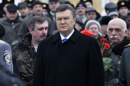 Le président ukrainien élu Viktor Ianoukovitch.... (Photo: Sergei Chuzavkov, AP)