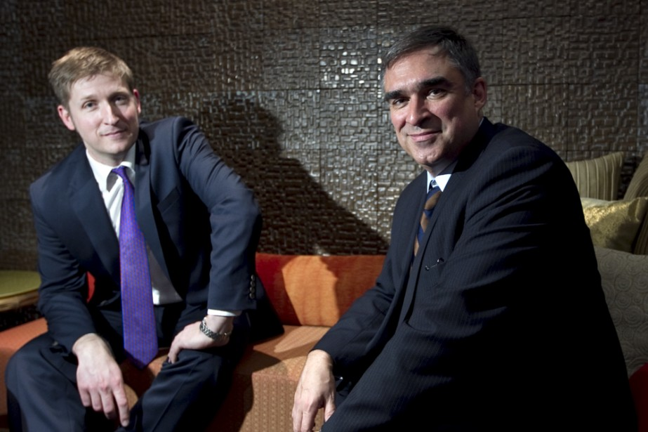 Jonathan Shaughnessy et Marc Mayer.... (Photo: Alain Roberge, La Presse)