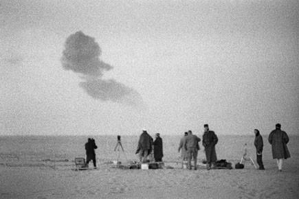 Photo réalisée lors d'essais nucléaires dans le désert... (Photo: archives afp)