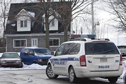 Les policiers de Laval ont arrêté un homme... (Photo: Patrick Sanfaçon, La Presse)