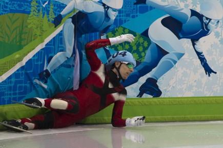 Lors d'une chute en patinage de vitesse,... (Photo: André Pichette, La Presse)