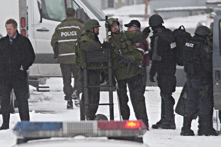 Les deux enfants pris en otage par un... (Photo: Patrick Sanfaçon, La Presse)