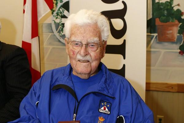 John Babcock, le dernier vétéran de la Première... (Photo AP)