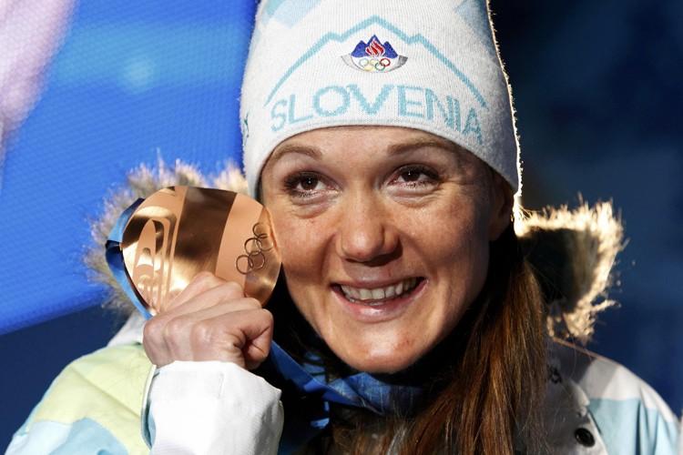 Petra Majdic a remporté la médaille de bronze... (Photo: Reuters)