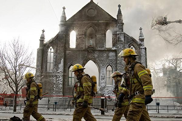 Début février, c'était la chapelle des Franciscains qui... (Photo: David Boily, La Presse)
