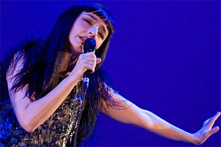 Maria de Medeiros lors de son spectacle au... (Photo: David Boily, La Presse)