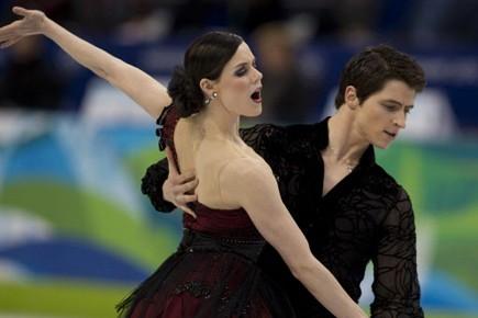 Les danseurs canadiens Tessa Virtue et Scott Moir.... (Photo: André Pichette, La Presse)