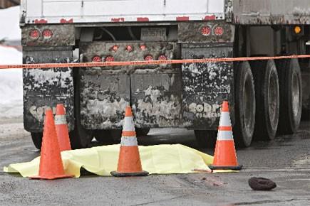 Deux accidents impliquant des camions de déneigement ont... (Photo: Patrick Sanfaçon, La Presse)