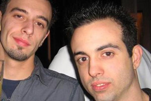 Anthony Alfieri, à droite, et son ami Leonardo...