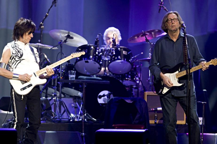 Deux légendes vivantes, Jeff Beck et Eric Clapton,... (Photo: François Roy, La Presse)