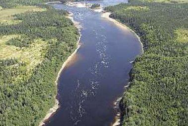 Le projet de complexe hydroélectrique sur la rivière... (Photo fournie par Hydro-Québec)