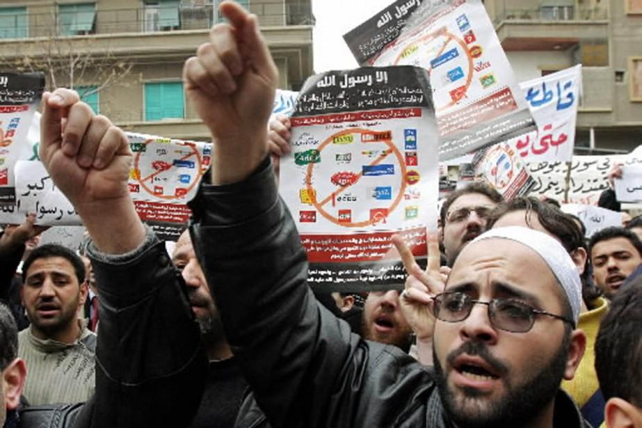 La publication des caricatures controversées avait donné lieu... (Photo: archives Reuters)