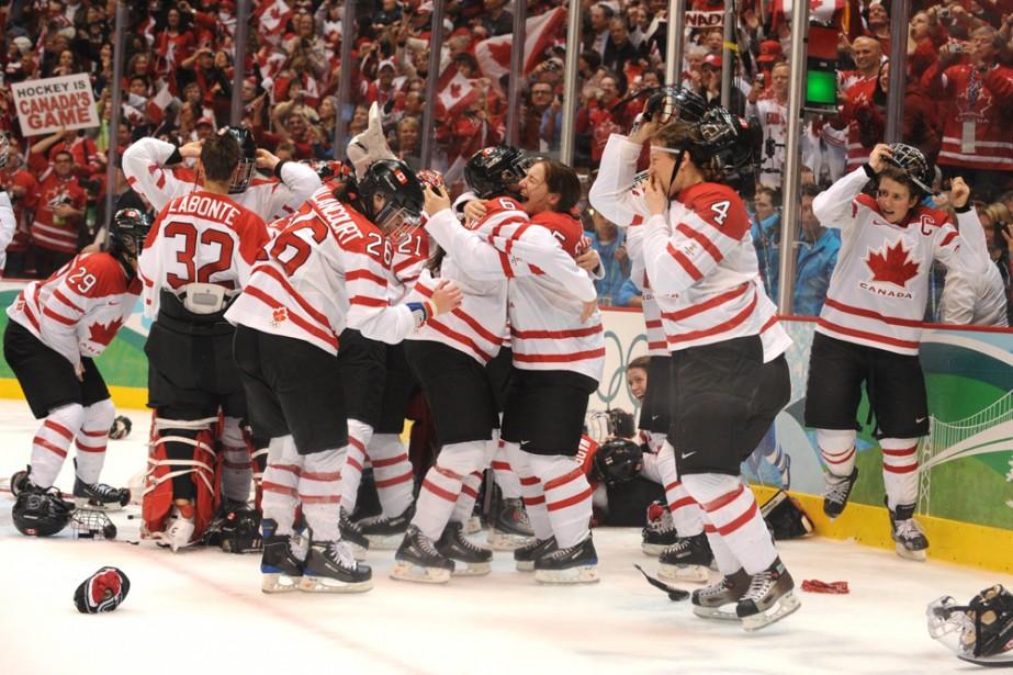 Jeux olympiques d'hiver : Demi-finale de l'équipe canadienne de... (Photo: AFP)