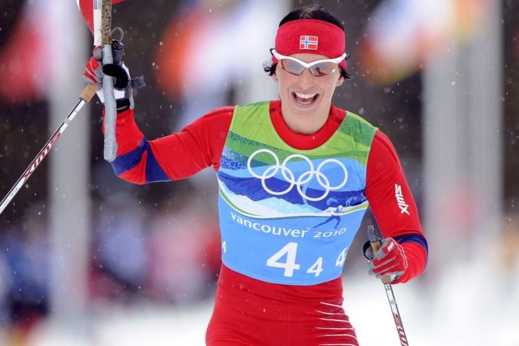 La fondeuse norvégienne Marit Bjoergen a remporté trois... (Photo: AFP)