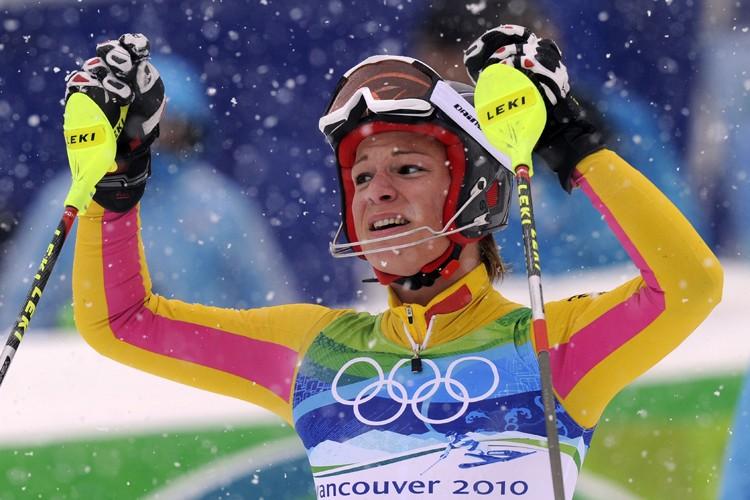 Maria Riesch... (Photo: AFP)