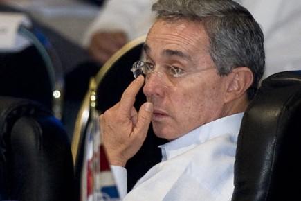 Le président colombien Alvaro Uribe.... (Photo: RONALDO SCHEMIDT, AFP)