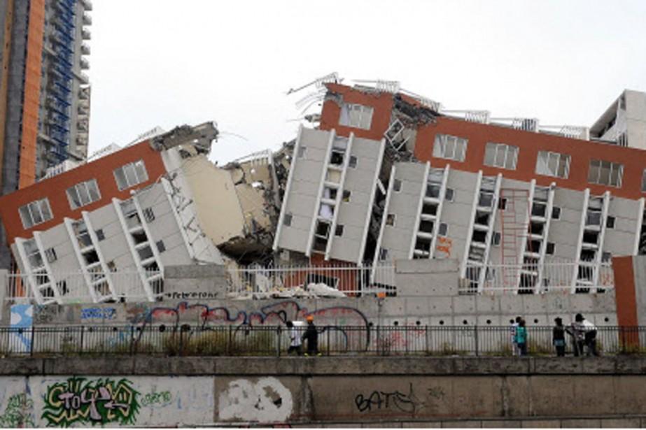 Cet immeuble à logements de Conception a été... (Photo: AFP)
