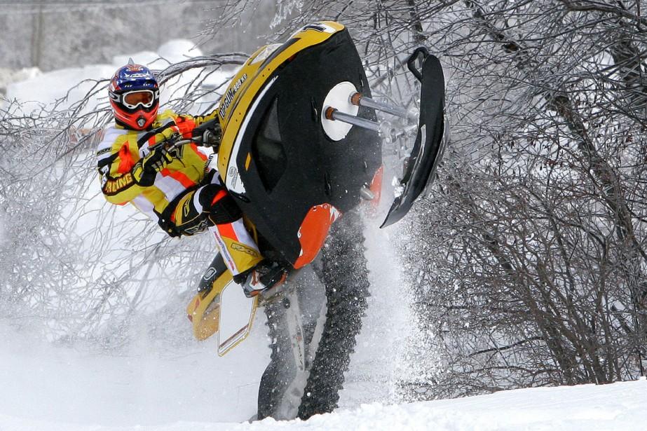 Une chenille aux crampons arrondis permet au Snow... (Photo Jocelyn Bernier, Le Soleil)