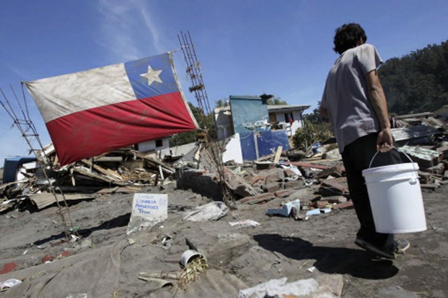 Un aperçu des dégâts causés par le séisme... (Photo: Reuters)