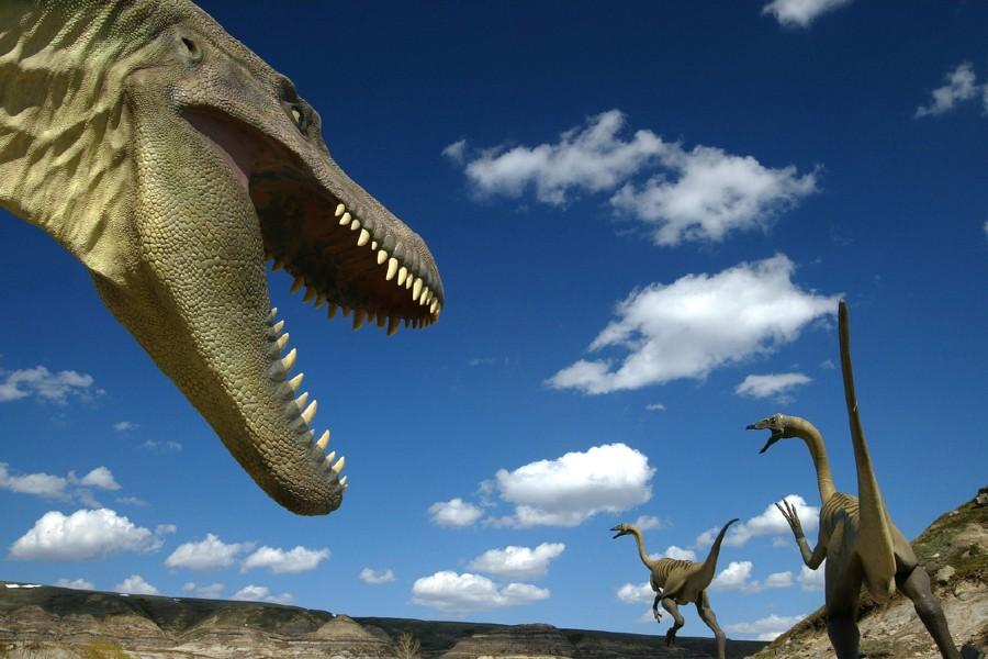 Des dinosaures accueillent les visiteurs au Royal Tyrrell... (Photo: Archives PC)