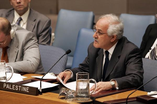 Riyad Mansour, observateur palestinien à l'Onu, estime qu'Israël... (Photo AP)