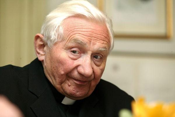 Georg Ratzinger, le frère du pape Benoît XVI,...