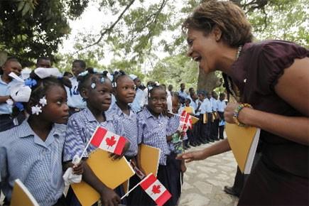 Michaëlle Jean avait fait une visite en Haïti... (Photo: Archives PC)
