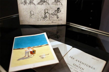 Une édition originale de Tintin au pays des Soviets en... (Photo: AFP)