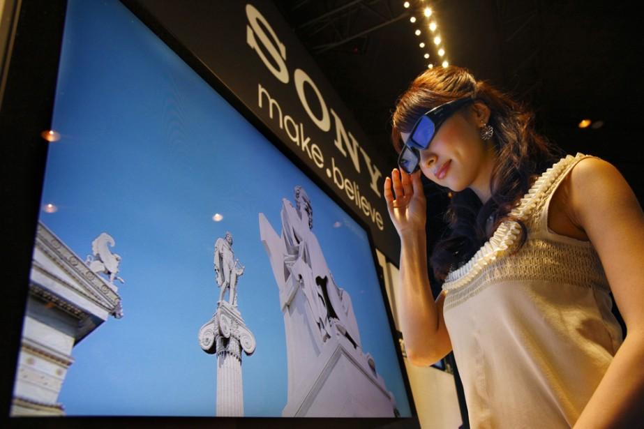 Une télé 3D de Sony... (Photo: AP)