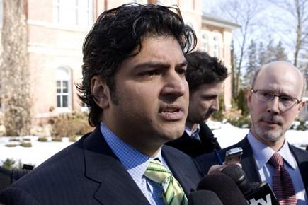 Rahim Jaffer à sa sortie de cour mardi... (Photo: PC)