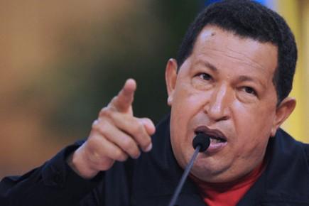 Le président du Venezuela, Hugo Chavez, mène une... (Photo: Juan BARRETO, AFP)