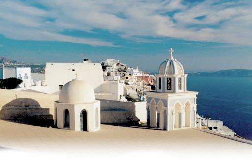 Santorin, en Grèce... (Photo: archives La Presse)