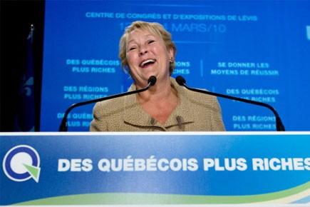 Le chef du Parti québécois, Pauline Marois.... (Photo: PC)