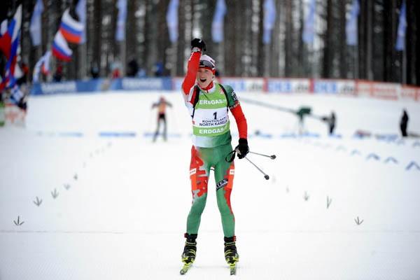 Darya Domracheva.... (Photo Reuters)