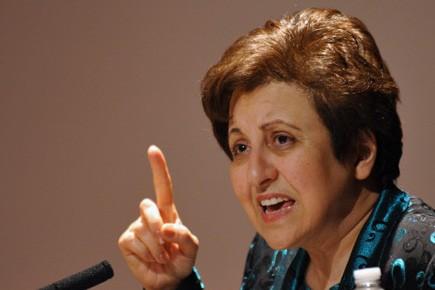 Le Prix Nobel de la Paix Shirin Ebadi.... (Photo AFP)