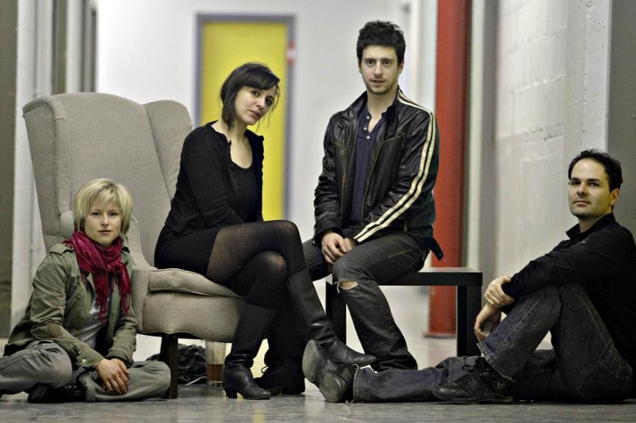 Véronique Marchand, Monia Chokri et Benoît Drouin-Germain, comédiens... (Photo: Pascal Ratthé, fournie par la production)