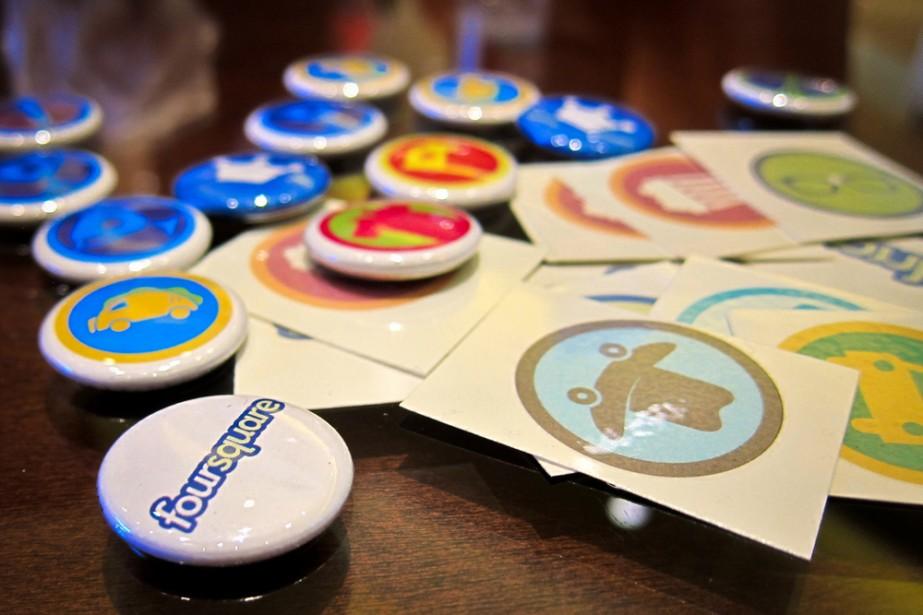 Des macarons et tatoos de l'entreprise Foursquare au... (Flickr, Nanpalmero)