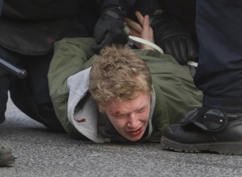 La 14e marche annuelle contre la brutalité policière... (PHOTO: ROBERT SKINNER, LA PRESSE)