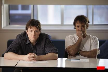 Aux côtés d'Étienne de Passillé (à droite), Simon-Olivier... (PHOTO FOURNIE PAR RADIO-CANADA)