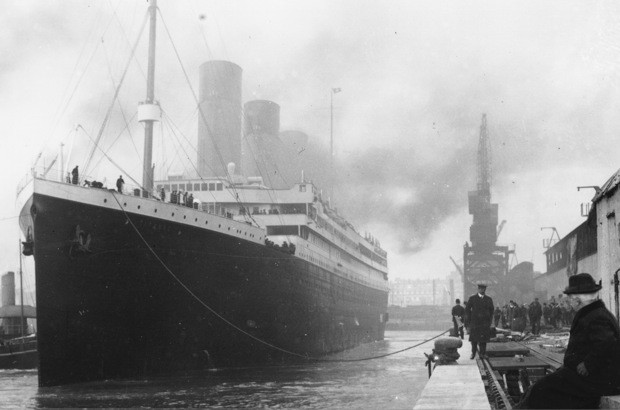 Le Titanic à Southampton le 10 avril 1912....