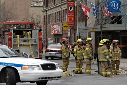 L'attentat au colis suspect qui a contribué à... (Photo David Boily, La Presse)