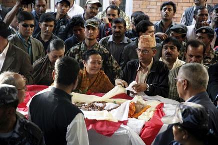 Les funérailles de l'ancien premier ministre népalais Girija... (Photo: Pradeep Shrestha, AP)