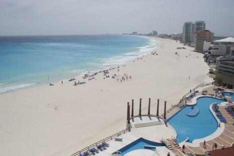 Une plage de Cancun, au Mexique... (Photo: AFP)