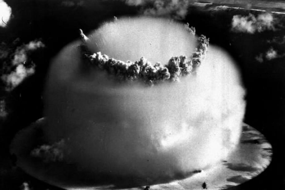 Essai nucléaire américain aux îles Marshall, en 1946.... (Photo: archives AP)