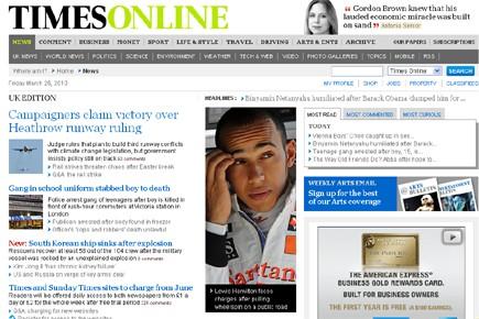Le Times deviendra en juin le premier quotidien britannique à passer au...