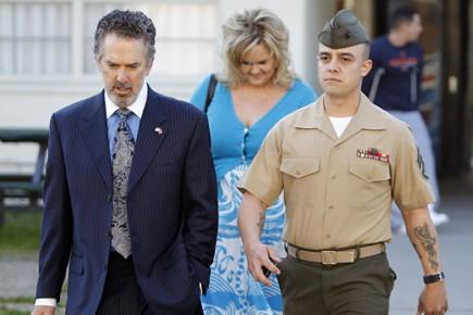 Le Sergent Frank Wuterich à son arrivée au... (Photo Reuters)