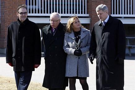 Le premier ministre Harper se trouvait à Stanstead... (Photo: PC)