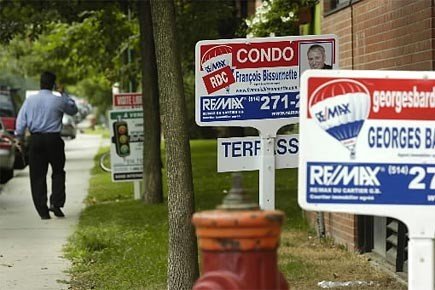 Re/Max souligne que la population canadienne s'est accrue... (Photo: Patrick Sanfaçon, archives La Presse)