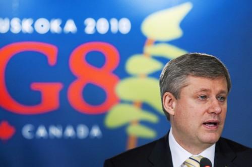 Stephen Harper a lancé aux ministres du G8... (Photo: PC)